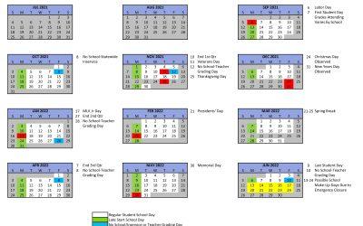 2021-2022 School Year Calendar now available