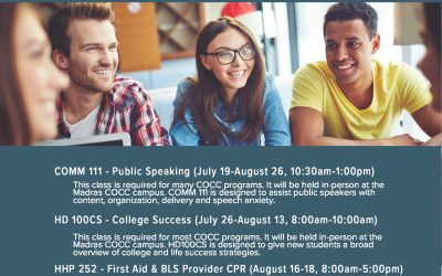 Summer College Classes for JCSD 509J Students